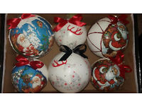 Box of 6 Handmade Christmas Baubles - Perfect gift