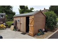 Garden Shed 14' x 8' supreme range with Apex roof