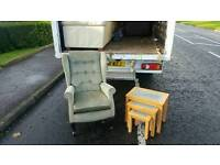 Very nice fireside chair £45 beech wood & glass nest of tables £25