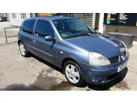 renault clio 05 plate 1.1 petrol low mileage only 77000 new cambelt new mot