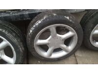 4 x Ford cosworth wheels took of my fiesta up for sale £100 ONO