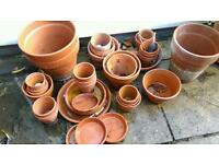 Terracotta pots and bases