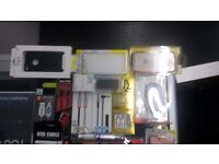 tempered glass/aux/usb cables/phone cases/wireless mouse etc