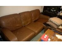 Excellent condition leather sofa £100