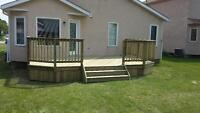 Custom Decks, Fences and post setting