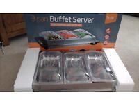 3 pan buffet server