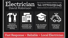 Electrician available in Belfast. No job too small. Fast response.