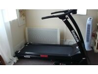 Reebok Treadmill - Can fold up for space saving when not in use.
