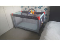 Winnie the Pooh Travel Cot - Used but in excellent Condition FREE UK P&P