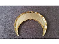 New Golden Metal Crescent Plate for Sweets