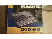 Mackie 12 channel mixing desk