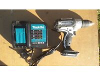 makita 18v combi drill and charger