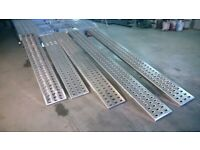 BRAND NEW ALUMINIUM PUNCHES DECKING RAMPS FOR RECOVERY TRUCKS 300CM (3M)