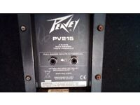Peavey pv215 PA speakers used great sound space needed