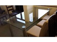 Ex display large glass table ONLY £250