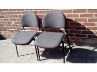 Two office chairs. Cheap and ready to go!