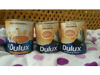 Dulux True terracotta paint brand new. cost over £10 EACH