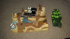 micro machines millitery base and army tank