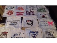  £80 · wholesale joblot of 100 new printed funny baby vests various sizes