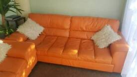 2 real leather sofas