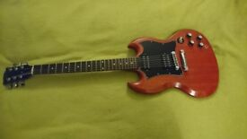 Gibson SG Special guitar, faded cherry. 2005 w/ grover tuners.
