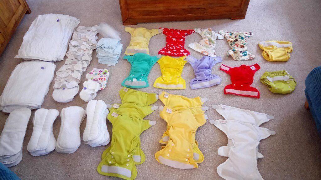 Massive bundle of reusable nappies, inserts etc.