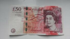 AA52 Bank Of England £50 Fifty Pound Note USED Collectable Low Prefix AA Series