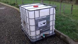 IBC Cube 1000 litre storage tank