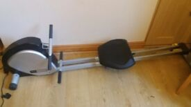 Rowing machine with digital readings