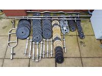 weights and dumbbells 198kg (13 dumbbells)