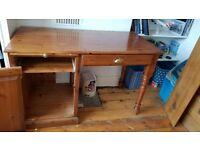 DESK and Filing Cabinet Strong Hand Made Sturdy Good Quality.