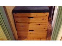 Ikea wooden storage for children's room. Vaulting horse, holds loads