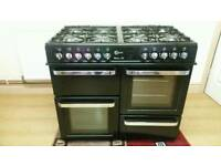 ☆☆ FLAVEL DUAL FUEL RANGE BLACK COOKER !!!