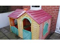 Kid's Outdoor Playhouse- Double fronted