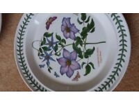 dinner plate by Portmeirion Clematis