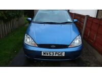 2003 FORD FOCUS BLUE PETROL 1.6 - MOT END OF OCT - V5/PART SERVICE HISTORY