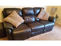 Electrical leather recliner suite