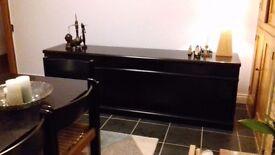70s HABITAT sideboard in black beech wood