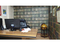 Two Large Wooden Office Desks & 2 Office Swivel Chairs. Bargain Package