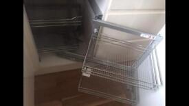 New kitchen cupboard swivel shelving