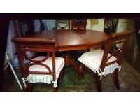 Cheap. Extendable Dining table and 5 chairs. Collect today cheap