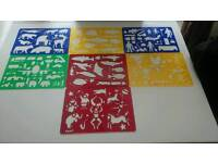 Selection of kids stencils