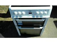 beko 60cm electric double oven cooker free nn delivery service 3 months warranty