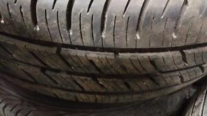 4 pneus d'été 195/65/15 Continental Contipro Contact, 20% d'usure, 8-9/32 de mesure.