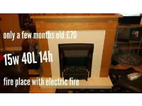 New fire place with electric fire