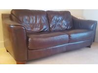 Leather Sofa. Cost £900 new, will accept £75. Buyer to collect
