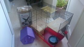Large chinchilla cage with accessories