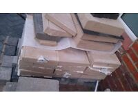 Sandstone Slabs Fence Concrete Tops Footpath Tiles Stone Building Site End