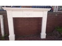 "White Mantelpiece. 3ft 11"" high x 5 ft 1"" wide."
