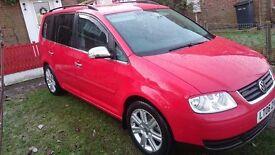 VW TOURAN 1.9TDI SE BXE 7 SEATER 2006 DIESEL WITH AUDI A6 ALLOY WHEELS